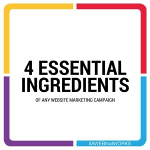 4 essential ingredients of any website marketing camapign