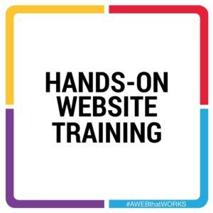Hands-on website training