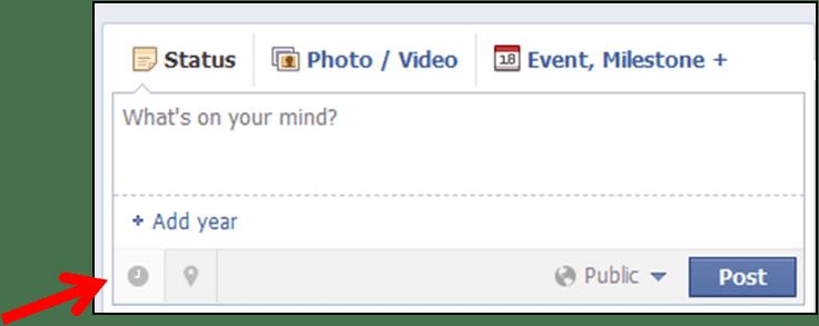 Facebook post scheduler box