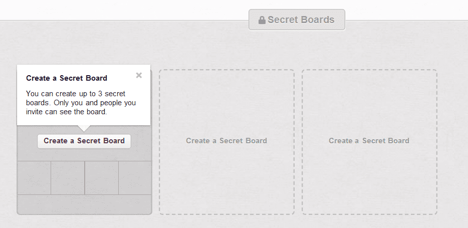 Secret Boards on Pinterest