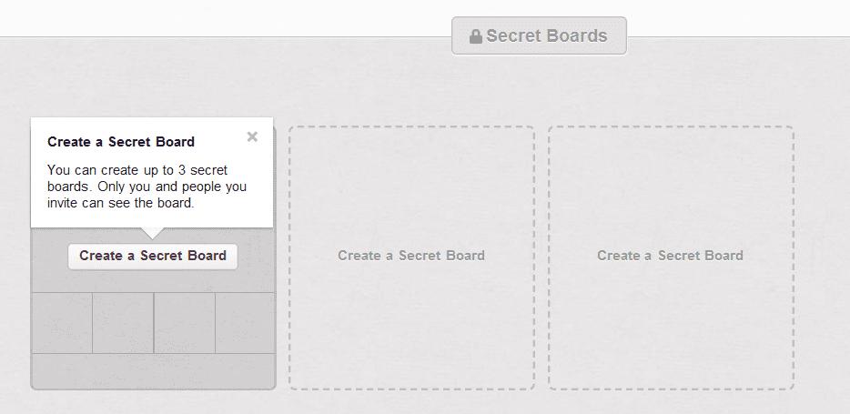 Secret Boards on Pinterest