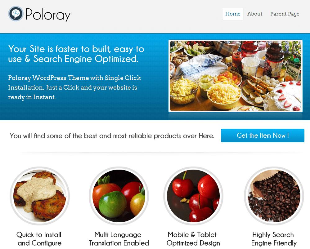 Poloray theme shot