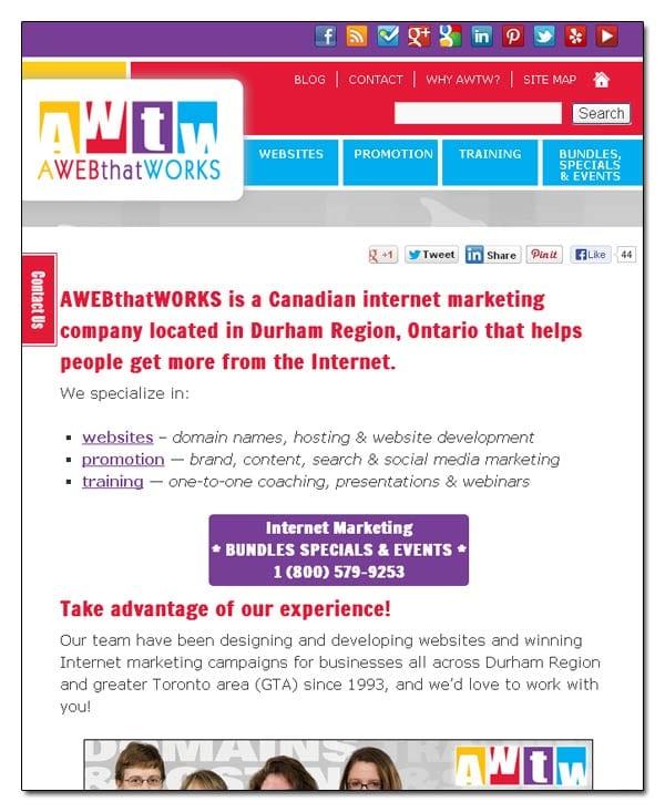 AWEBthatWORKS - Responsive Website - 1024pixels
