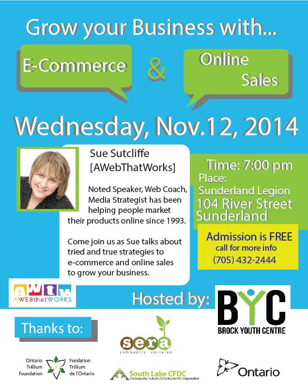 GROWING YOUR BUSINESS WITH E-COMMERCE (Nov.12, 2014) Sunderland