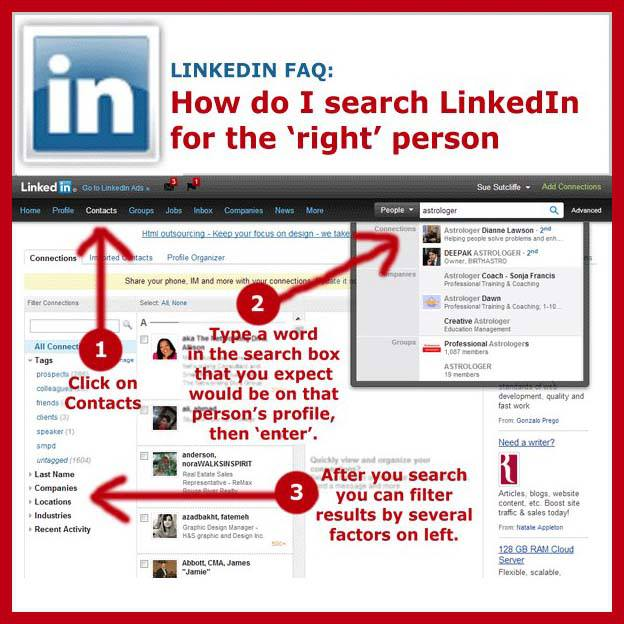 How to search linkedin