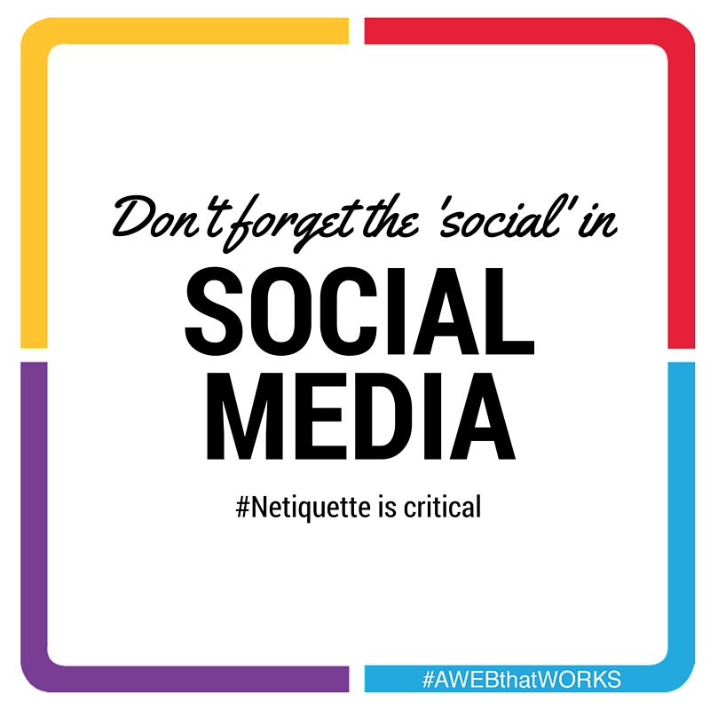 Don't forget the social in social media