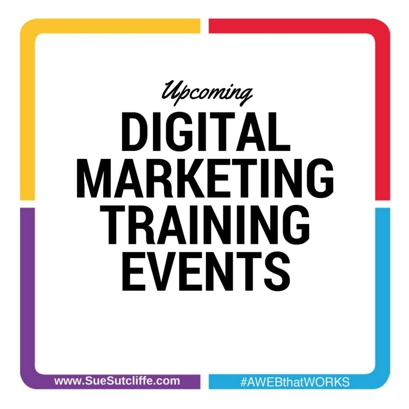 Upcoming Digital Marketing Training Events
