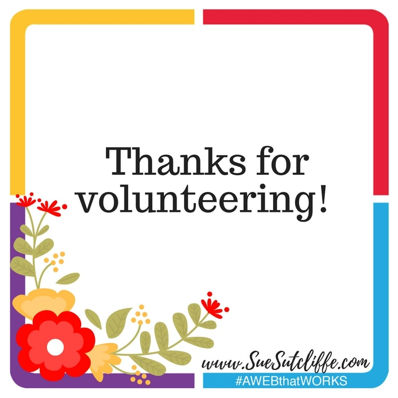 Thanks for volunteering!
