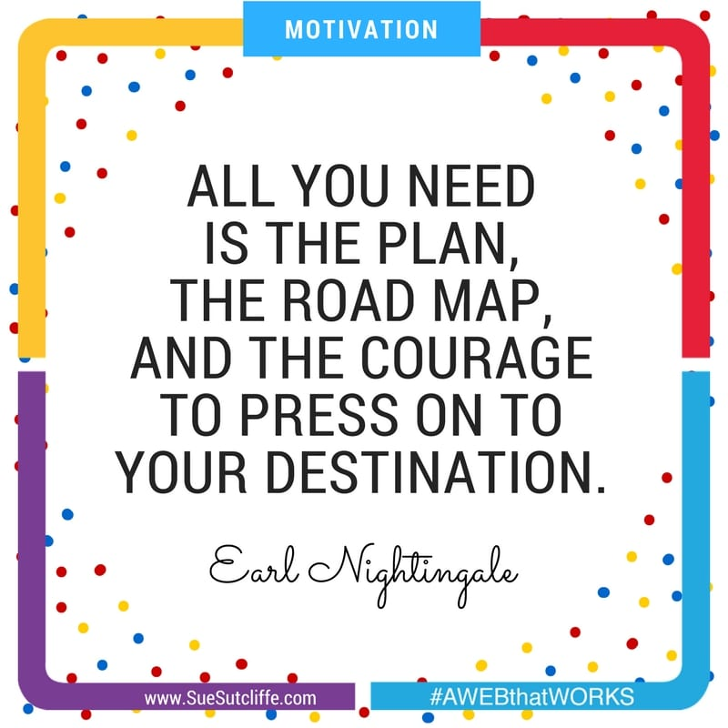 ALL YOU NEED IS THE PLAN, THE ROAD MAP, AND THE COURAGE TO PRESS ON TO YOUR DESTINATION.