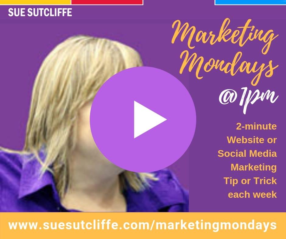 Marketing Mondays @1pm