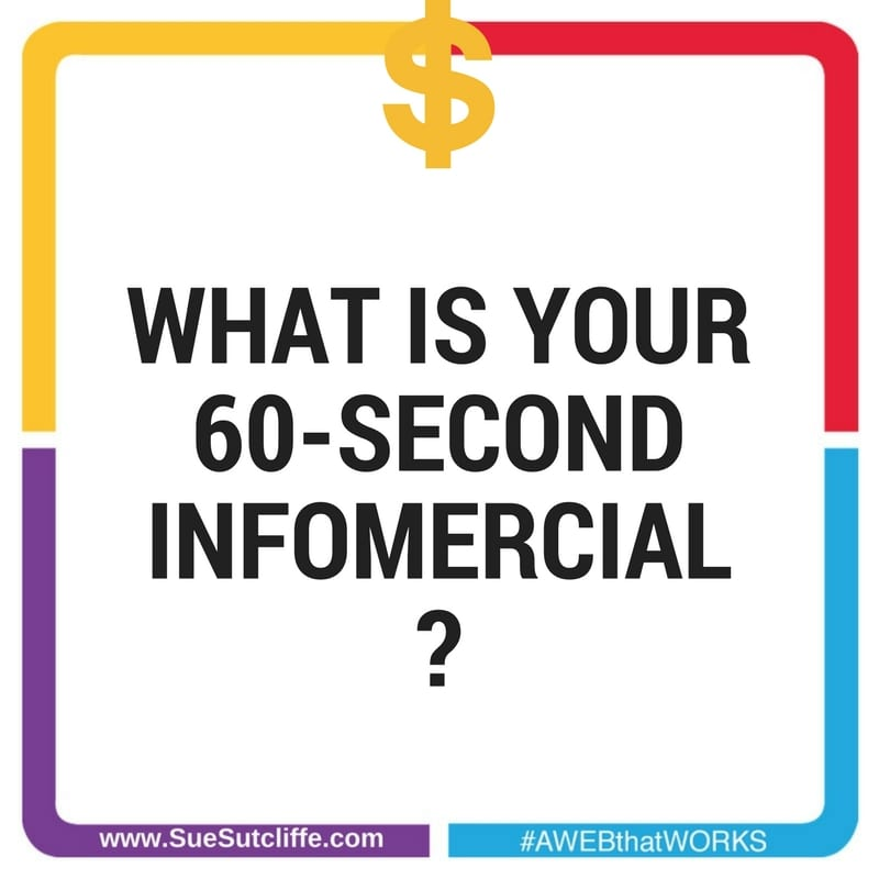What is your 60-second infomercial