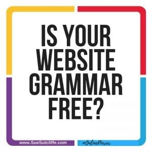 Is your website grammar free?