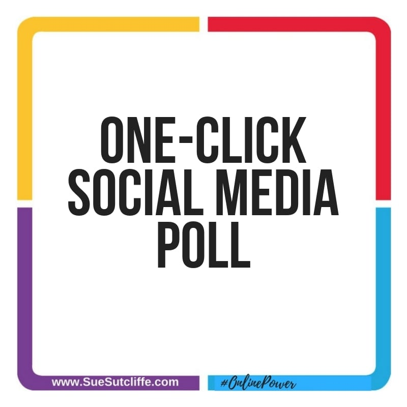 One-click social media poll