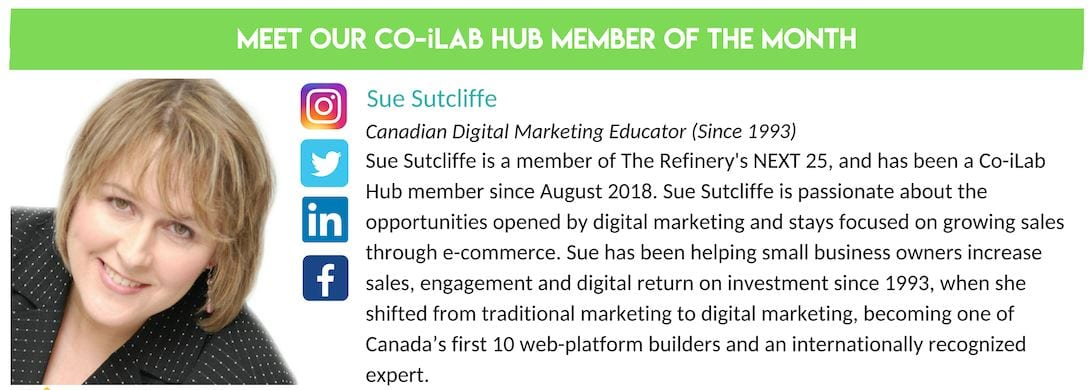 Sue Sutcliffe named Co-iLab member of the month