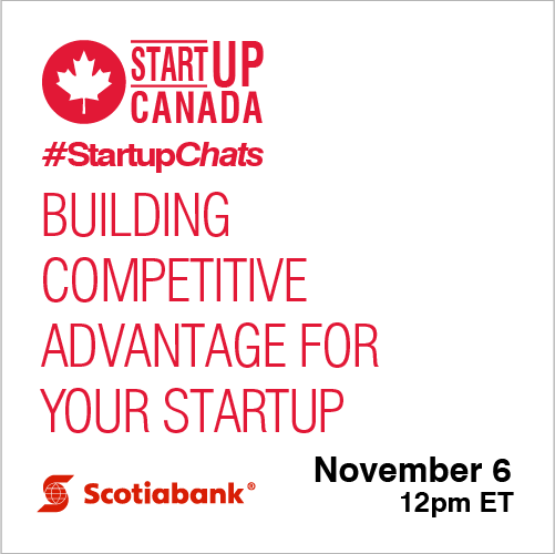 #StartupChats on Building Competitive Advantage for Your Startup