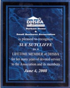 DHSBA Lifetime Member Award