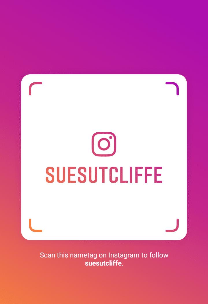 Follow Sue Sutcliffe on Instagram
