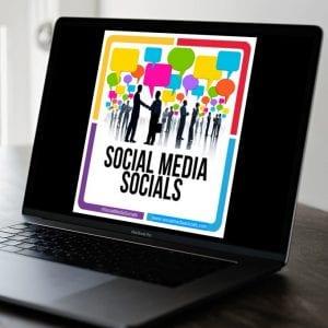 Social Media Socials logo on computer