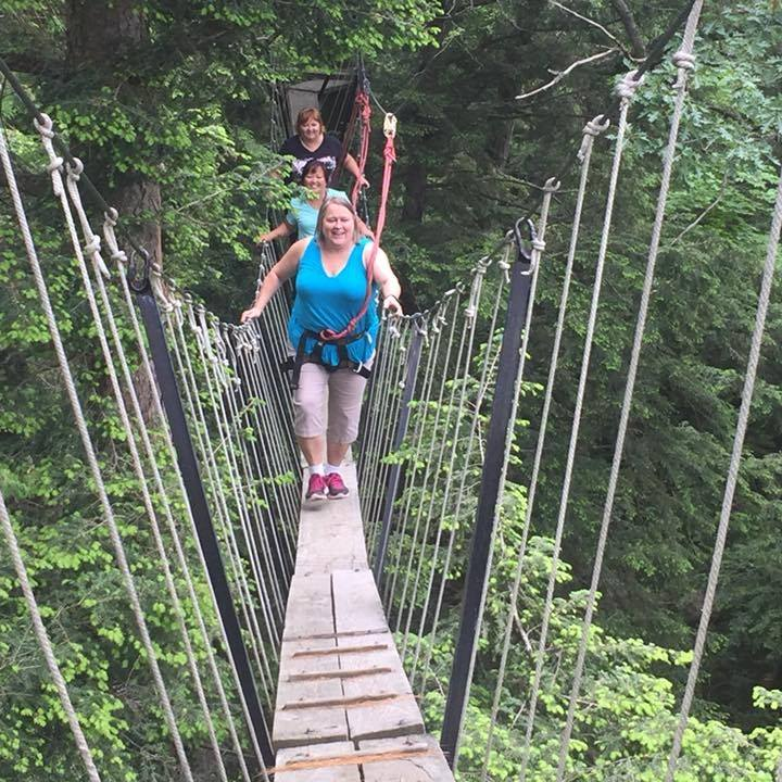 Sue Sutcliffe Haliburton Forest Canopy Tour