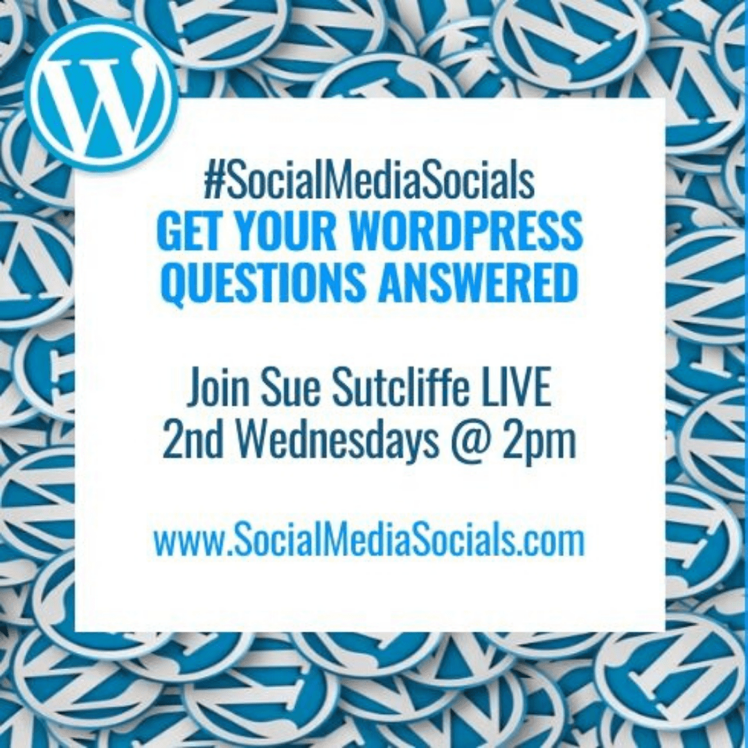 Social Media Socials WordPress Wednesdays Square